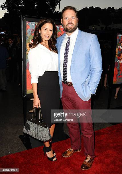 Actress Mercedes Masohn and actor David Denman attend the premiere of 'Men Women and Children' at DGA Theater on September 30 2014 in Los Angeles...