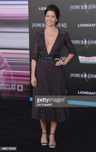 Actress Mercedes Masohn arrives at the Los Angeles Premiere 'Power Rangers' at the Westwood Village Theater on March 22 2017 in Westwood California