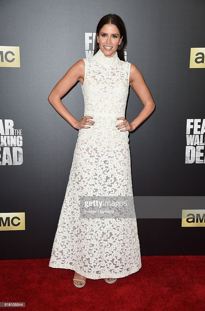 Actress Mercedes Masohn arrives at the Premiere Of AMC's 'Fear The Walking Dead' Season 2 at Cinemark Playa Vista on March 29 2016 in Los Angeles...