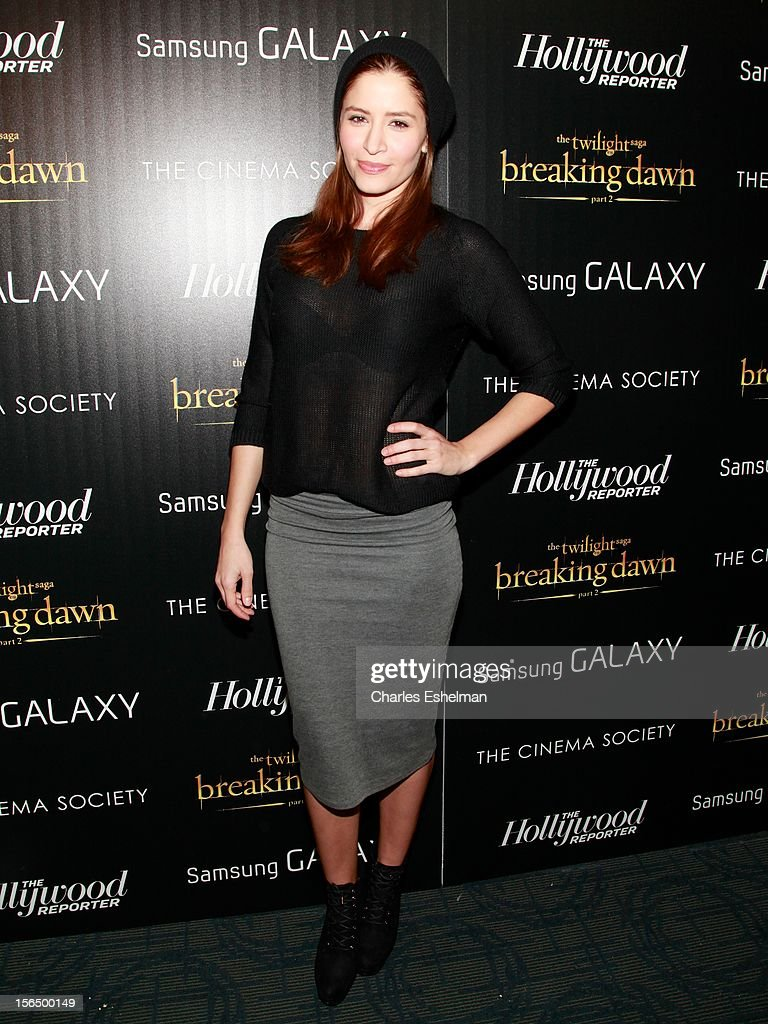 Actress Mercedes Masohn attends the Cinema Society with The Hollywood Reporter and Samsung Galaxy screening of 'The Twilight Saga: Breaking Dawn Part 2' at the Landmark Sunshine Cinema on November 15, 2012 in New York City.