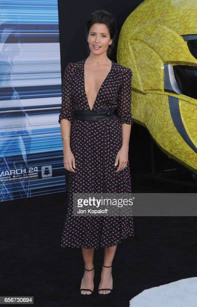 Actress Mercedes Mason arrives at the Los Angeles Premiere 'Power Rangers' at the Westwood Village Theater on March 22 2017 in Westwood California