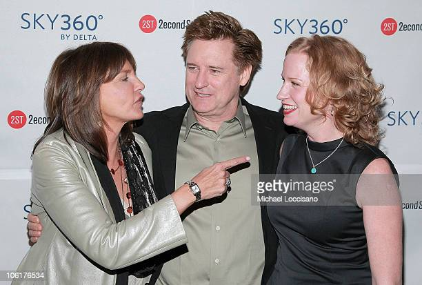 Actress Mercedes Ruehl actor Bill Pullman and actress Johanna Day attend Edward Albee's 'Peter And Jerry' opening night party at the SKY360 by Delta...