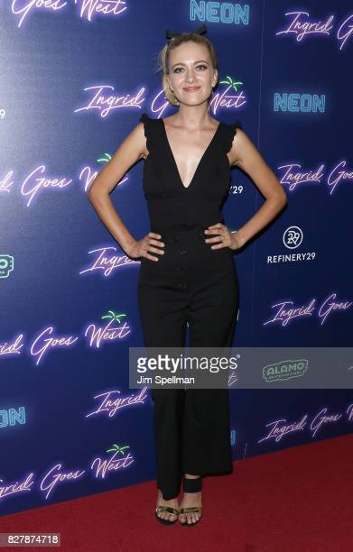 Actress Meredith Hagner attends The New York premiere of 'Ingrid Goes West' hosted by Neon at Alamo Drafthouse Cinema on August 8 2017 in the...