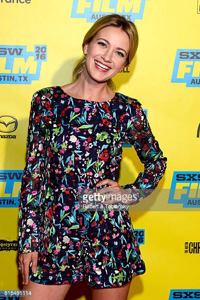 Actress Meredith Hagner attends the premiere of 'Search Party' during the 2016 SXSW Music Film Interactive Festival at Vimeo on March 13 2016 in...