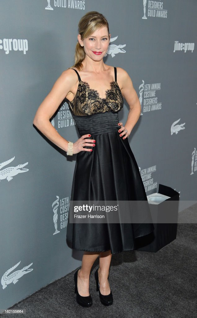 Actress <a gi-track='captionPersonalityLinkClicked' href=/galleries/search?phrase=Meredith+Monroe&family=editorial&specificpeople=1018022 ng-click='$event.stopPropagation()'>Meredith Monroe</a> attends the 15th Annual Costume Designers Guild Awards with presenting sponsor Lacoste at The Beverly Hilton Hotel on February 19, 2013 in Beverly Hills, California.