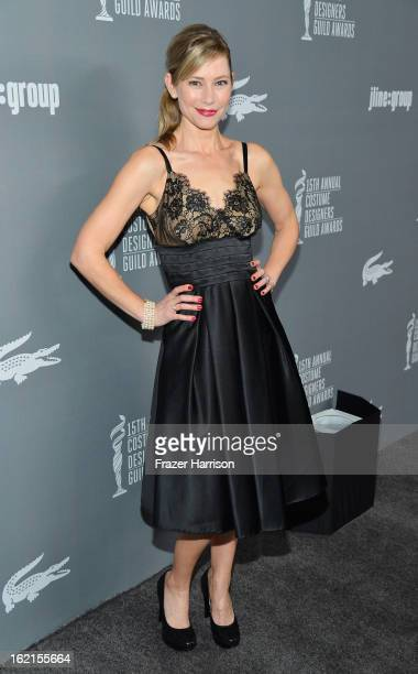 Actress Meredith Monroe attends the 15th Annual Costume Designers Guild Awards with presenting sponsor Lacoste at The Beverly Hilton Hotel on...