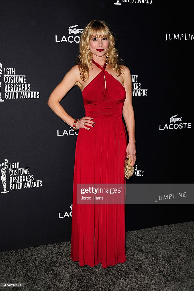 Actress <a gi-track='captionPersonalityLinkClicked' href=/galleries/search?phrase=Meredith+Monroe&family=editorial&specificpeople=1018022 ng-click='$event.stopPropagation()'>Meredith Monroe</a> attends the 16th Costume Designers Guild Awards with presenting sponsor Lacoste at The Beverly Hilton Hotel on February 22, 2014 in Beverly Hills, California.