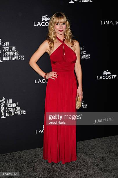 Actress Meredith Monroe attends the 16th Costume Designers Guild Awards with presenting sponsor Lacoste at The Beverly Hilton Hotel on February 22...
