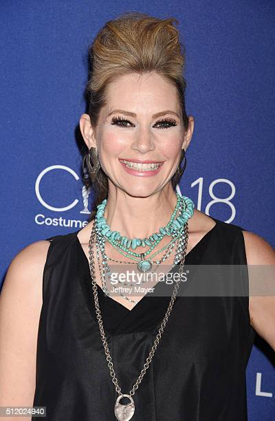 Actress Meredith Monroe attends the 18th Costume Designers Guild Awards at The Beverly Hilton Hotel on February 23 2016 in Beverly Hills California