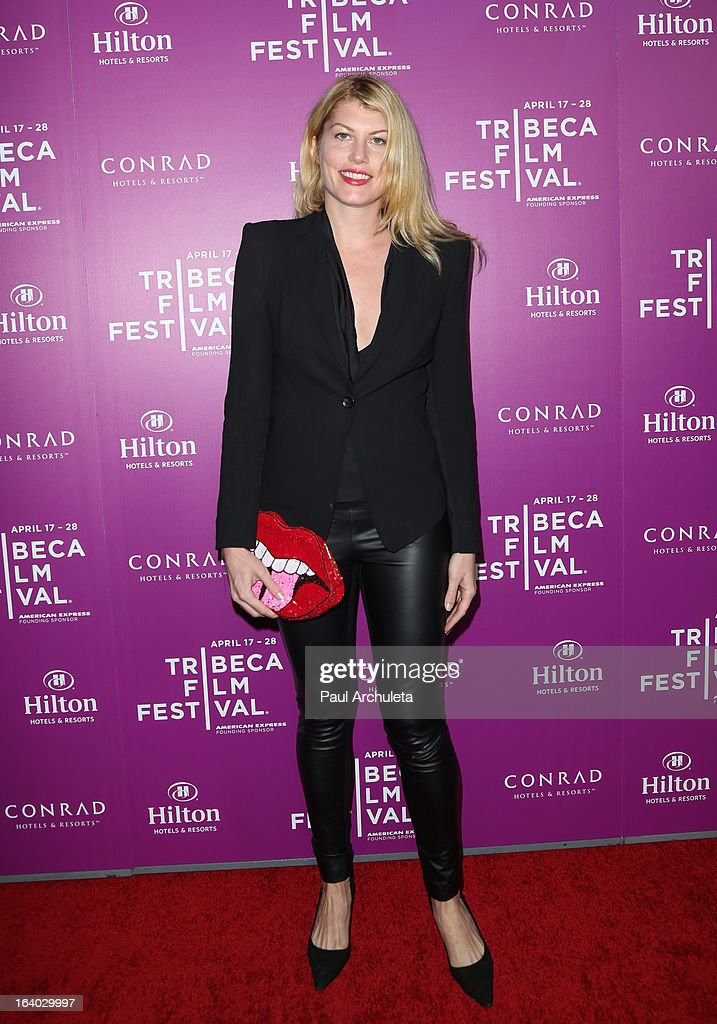 Actress Meredith Ostrom attends the 5th annual Tribeca Film Festival 2013 LA reception at The Beverly Hilton Hotel on March 18, 2013 in Beverly Hills, California.