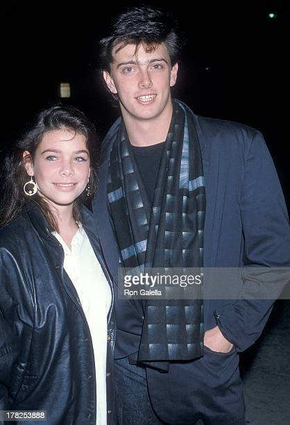 Actress Meredith Salenger and actor Donovan Leitch on December 6 1986 dine at Tail o' the Pup in West Hollywood California