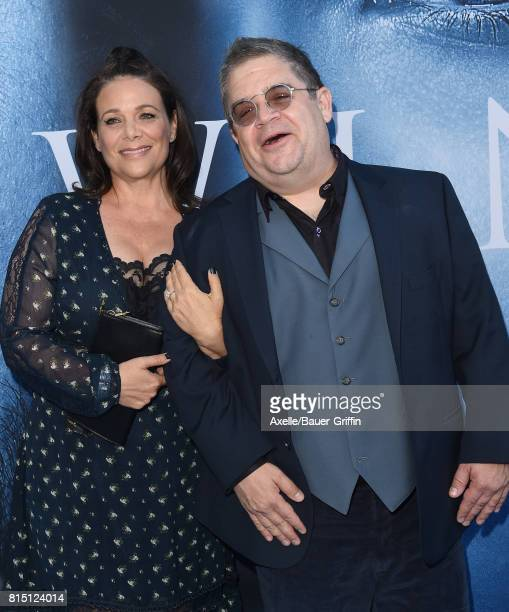 Actress Meredith Salenger and comedian Patton Oswalt arrive at the premiere of HBO's 'Game Of Thrones' Season 7 at Walt Disney Concert Hall on July...