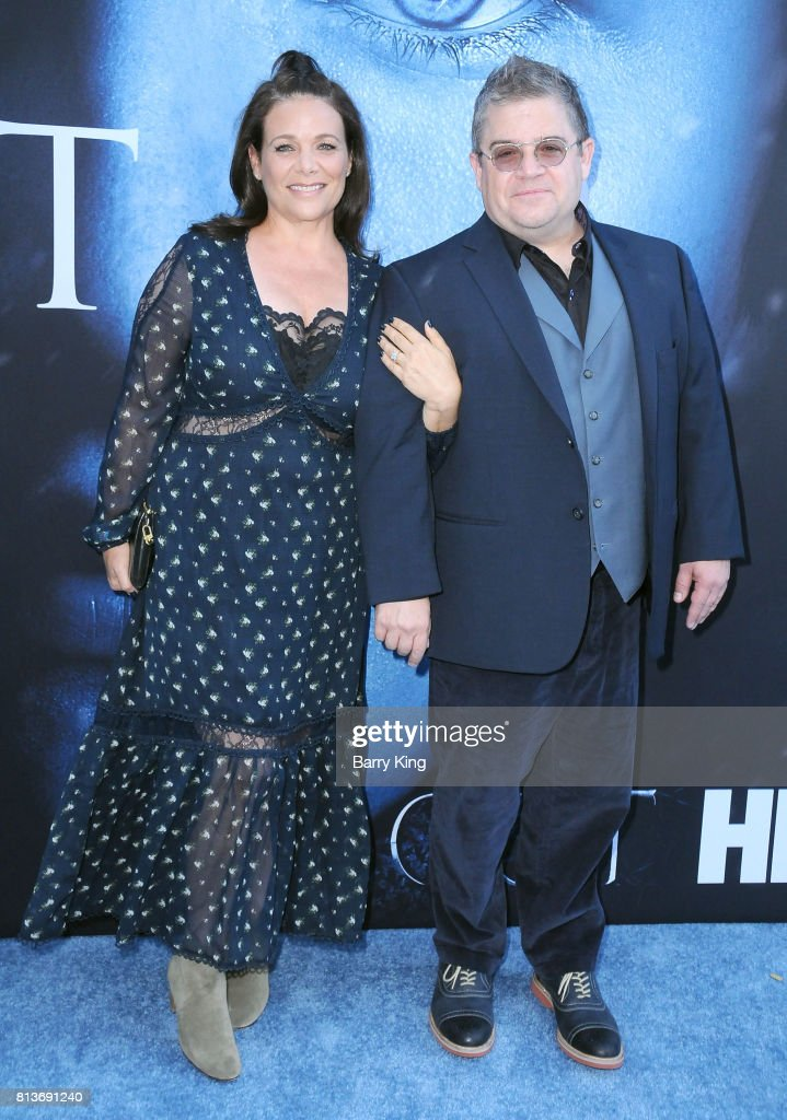 Actress Meredith Salenger and comedian Patton Oswalt attend the Premiere of HBO's 'Game Of Thrones' Season 7 at Walt Disney Concert Hall on July 12, 2017 in Los Angeles, California.
