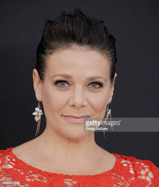 Actress Meredith Salenger arrives at The Los Angeles Philharmonic Opening Night Concert And Gala at Walt Disney Concert Hall on September 30 2014 in...
