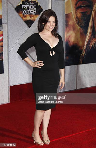 Actress Meredith Salenger arrives at the Los Angeles premiere of 'Race To Witch Mountain' at the El Capitan Theatre on March 11 2009 in Hollywood...