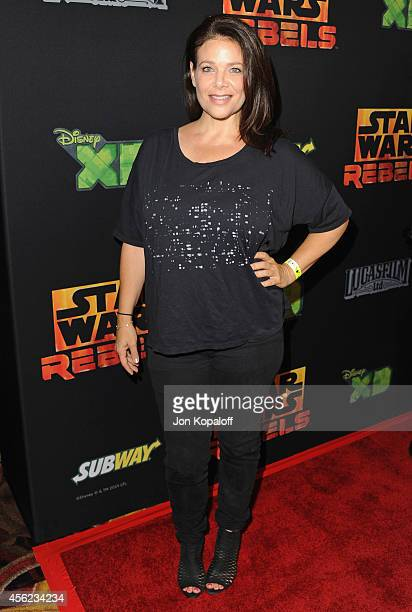 Actress Meredith Salenger arrives at the Los Angeles special screening 'Star Wars Rebels' at AMC Century City 15 theater on September 27 2014 in...