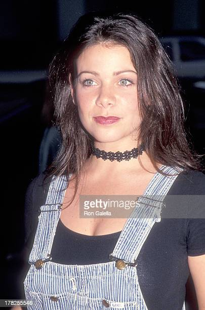 Actress Meredith Salenger attends the 'Heart and Souls' Beverly Hills Premiere on August 11 1993 at the Samuel Goldwyn Theatre in Beverly Hills...