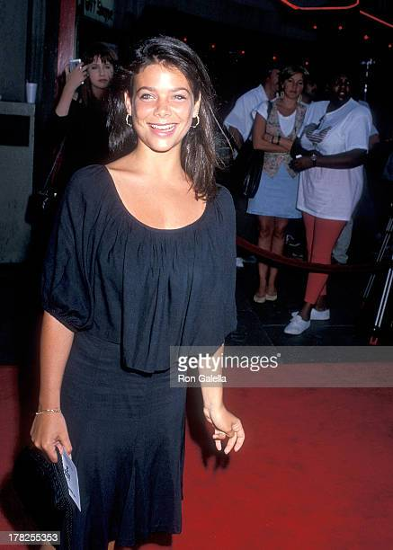 Actress Meredith Salenger attends the 'Lethal Weapon 2' Hollywood Premiere on July 5 1989 at the Mann's Chinese Theatre in Hollywood California