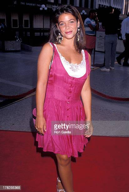 Actress Meredith Salenger attends the 'Sex Lies and Videotape' Century City Premiere on August 3 1989 at the Cineplex Odeon Century Plaza Cinemas in...