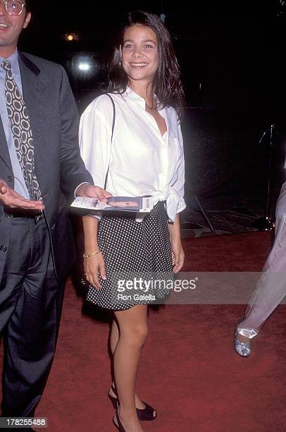 Actress Meredith Salenger attends the 'Under Seige' Westwood Premiere on October 8 1992 at the Mann Village Theatre in Westwood California