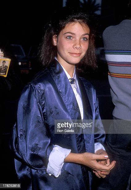 Actress Meredith Salenger attends the Young Artists Foundation's Seventh Annual Youth in Film Awards on December 15 1985 at the Cocoanut Grove...