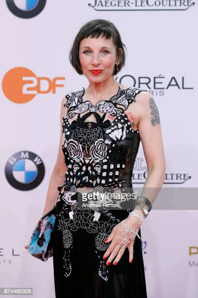 Actress Meret Becker attends the Lola German Film Award red carpet at Messe Berlin on April 28 2017 in Berlin Germany