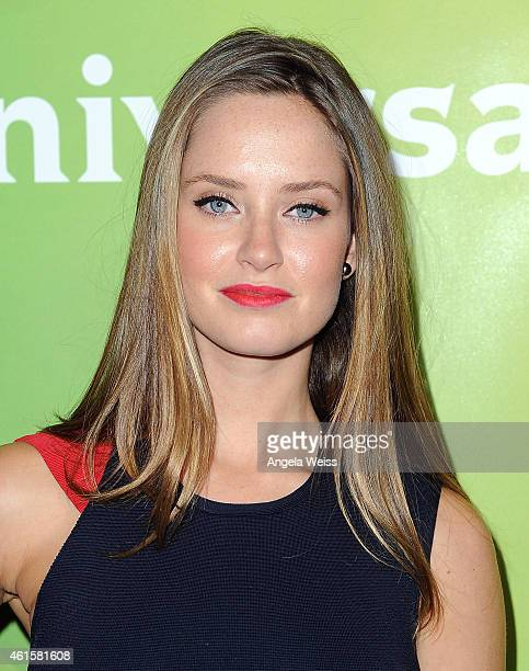 Actress Merritt Patterson arrives at NBCUniversal's 2015 Winter TCA Tour Day 1 at The Langham Huntington Hotel and Spa on January 15 2015 in Pasadena...
