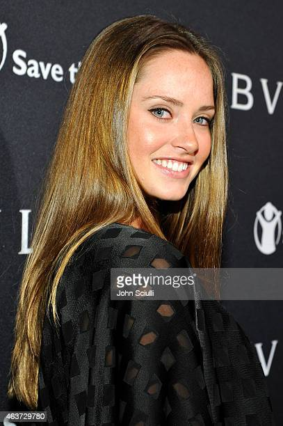 Actress Merritt Patterson attends BVLGARI and Save The Children STOP THINK GIVE PreOscar Event at Spago on February 17 2015 in Beverly Hills...