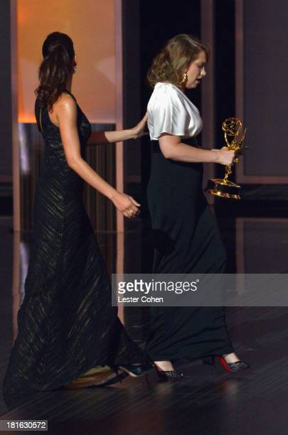 Actress Merritt Wever appears onstage during the 65th Annual Primetime Emmy Awards held at Nokia Theatre LA Live on September 22 2013 in Los Angeles...