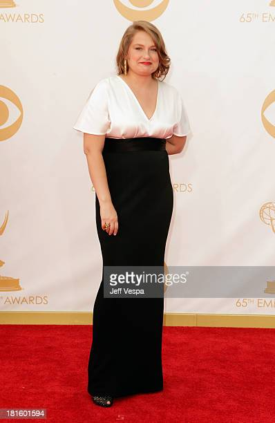 Actress Merritt Wever arrives at the 65th Annual Primetime Emmy Awards held at Nokia Theatre LA Live on September 22 2013 in Los Angeles California