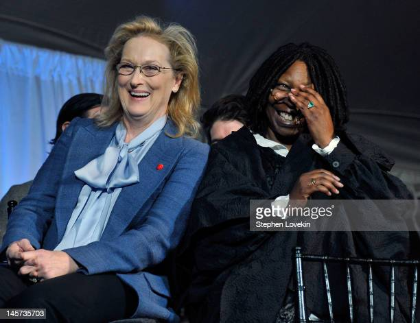 Actress Meryl Streep and actress/TV personality Whoopi Goldberg attend the 2012 Made In NY Awards at Gracie Mansion on June 4 2012 in New York City