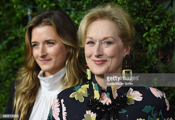 Actress Meryl Streep and daughter Grace Gummer arrive at the Los Angeles Premiere Of Focus Features' 'Suffragette' at Samuel Goldwyn Theater on...