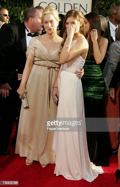 Actress Meryl Streep and daughter Louisa Jacobson Gummer arrive at the 64th Annual Golden Globe Awards at the Beverly Hilton on January 15 2007 in...
