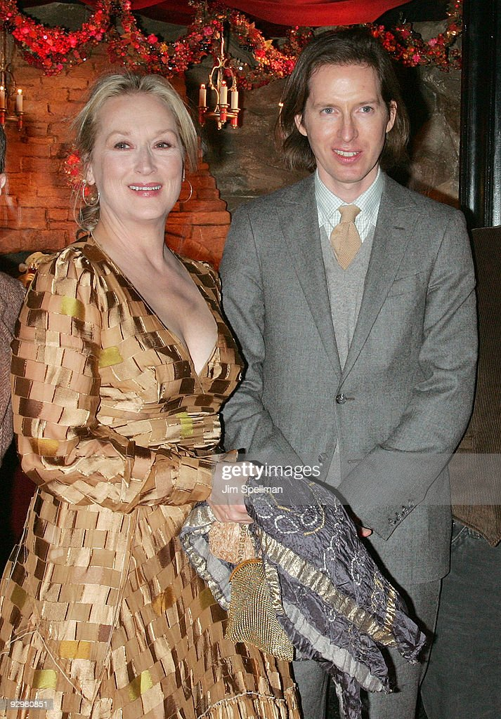 Actress Meryl Streep and director Wes Anderson attend the 'Fantastic Mr. Fox' premiere at Bergdorf Goodman on November 10, 2009 in New York City.