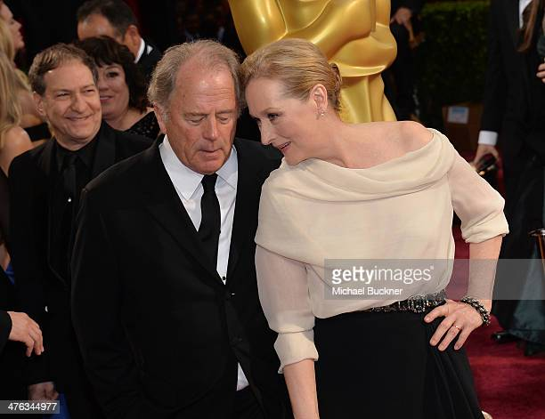 Actress Meryl Streep and Don Gummer attend the Oscars held at Hollywood Highland Center on March 2 2014 in Hollywood California