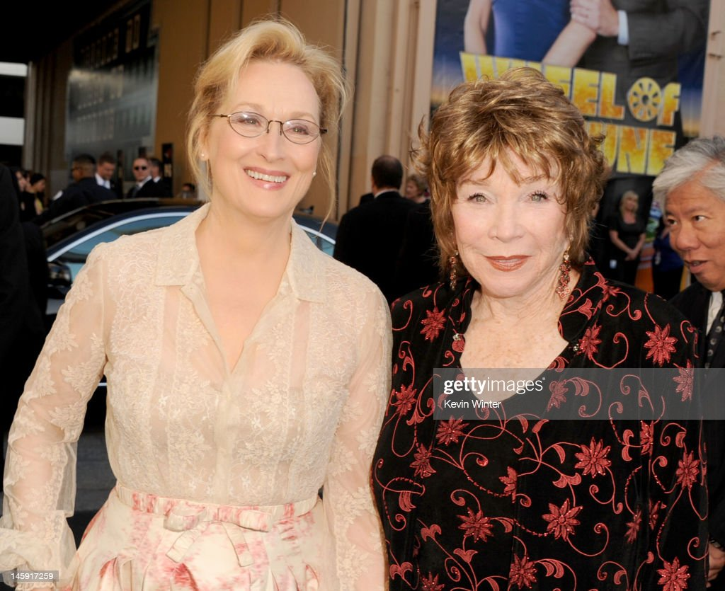 Actress <a gi-track='captionPersonalityLinkClicked' href=/galleries/search?phrase=Meryl+Streep&family=editorial&specificpeople=171097 ng-click='$event.stopPropagation()'>Meryl Streep</a> (L) and honoree <a gi-track='captionPersonalityLinkClicked' href=/galleries/search?phrase=Shirley+MacLaine&family=editorial&specificpeople=204788 ng-click='$event.stopPropagation()'>Shirley MacLaine</a> arrive at the 40th AFI Life Achievement Award honoring <a gi-track='captionPersonalityLinkClicked' href=/galleries/search?phrase=Shirley+MacLaine&family=editorial&specificpeople=204788 ng-click='$event.stopPropagation()'>Shirley MacLaine</a> held at Sony Pictures Studios on June 7, 2012 in Culver City, California. The AFI Life Achievement Award tribute to <a gi-track='captionPersonalityLinkClicked' href=/galleries/search?phrase=Shirley+MacLaine&family=editorial&specificpeople=204788 ng-click='$event.stopPropagation()'>Shirley MacLaine</a> will premiere on TV Land on Saturday, June 24 at 9PM ET/PST.