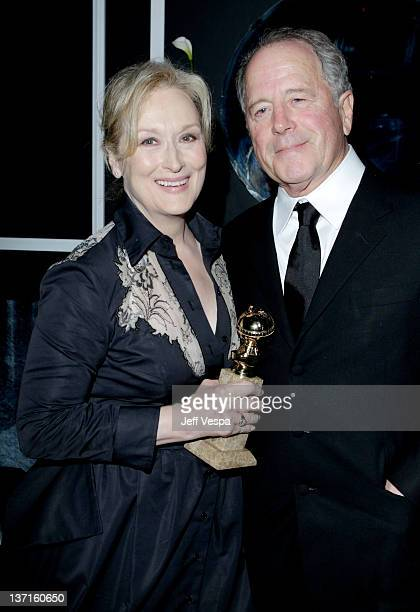 Actress Meryl Streep and husband Don Gummer attend The Weinstein Company's 2012 Golden Globe Awards After Party with Chopard Marie Claire and HP at...