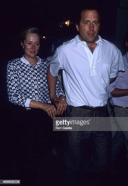 Actress Meryl Streep and husband Donald Gummer attend a performance of the Broadway play 'SpeedthePlow' on May 31 1988 at the Royale Theatre in New...
