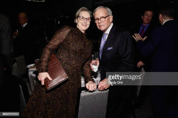 Actress Meryl Streep and Journalist and News Anchor Tom Brokaw attend The 2017 Rescue Dinner hosted by IRC at New York Hilton Midtown on November 2...