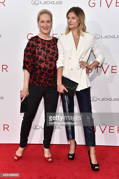 Actress Meryl Streep and Louisa Gummer attend 'The Giver' premiere at Ziegfeld Theater on August 11 2014 in New York City