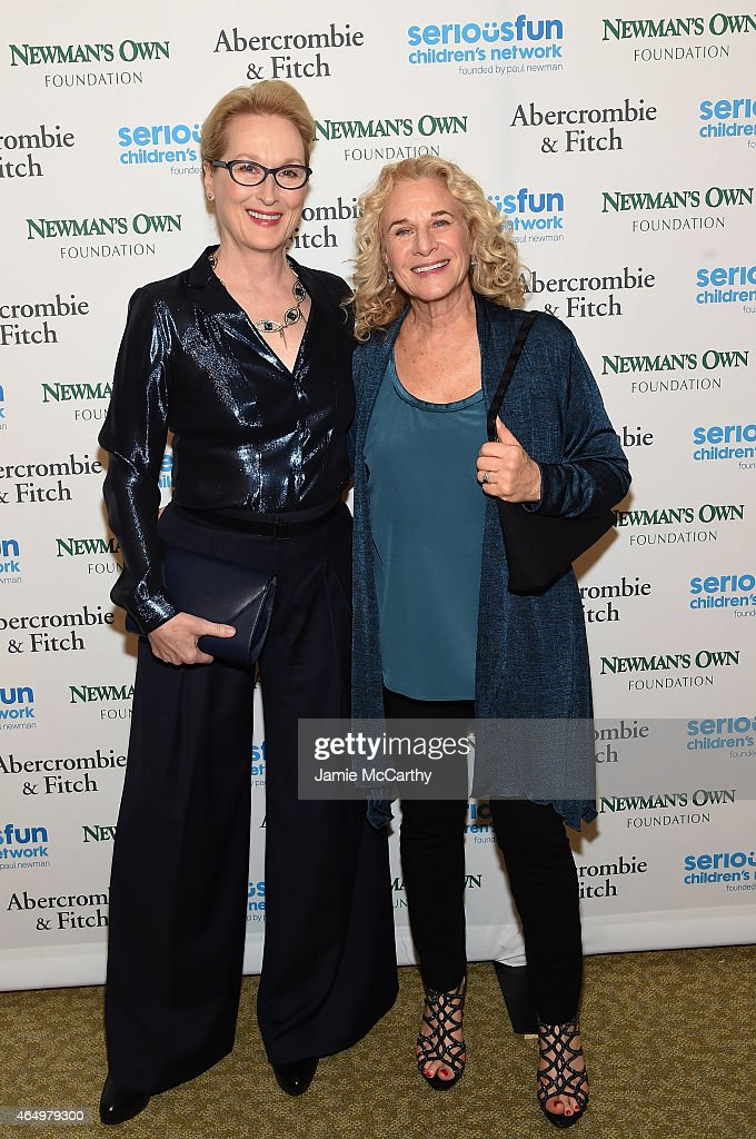 Actress <a gi-track='captionPersonalityLinkClicked' href=/galleries/search?phrase=Meryl+Streep&family=editorial&specificpeople=171097 ng-click='$event.stopPropagation()'>Meryl Streep</a> (L) and musician <a gi-track='captionPersonalityLinkClicked' href=/galleries/search?phrase=Carole+King+-+Musician&family=editorial&specificpeople=211440 ng-click='$event.stopPropagation()'>Carole King</a> attend SeriousFun Children's Network's New York City Gala at Avery Fisher Hall, Lincoln Center on March 2, 2015 in New York City.