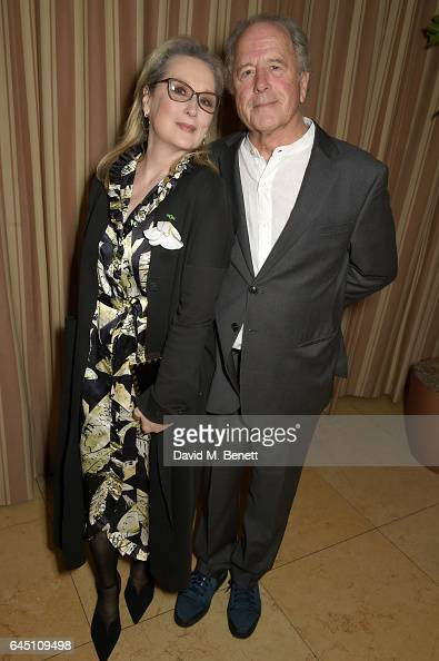 Actress Meryl Streep and sculptor Don Gummer attend a dinner to celebrate The GCC and The Journey To Sustainable Luxury on February 24 2017 in Los...