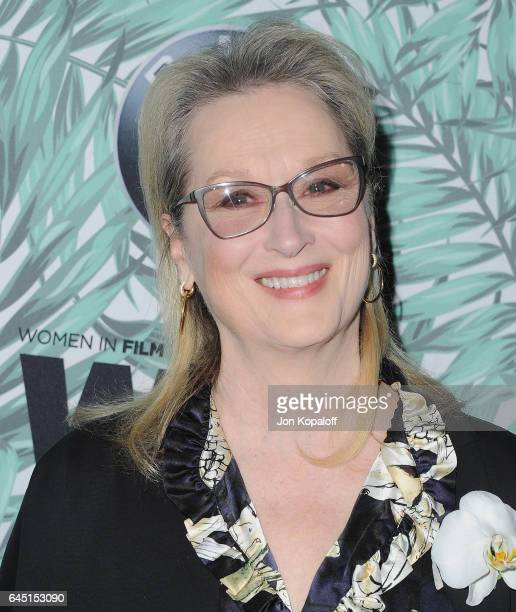 Actress Meryl Streep arrives at the 10th Annual Women In Film PreOscar Cocktail Party at Nightingale Plaza on February 24 2017 in Los Angeles...
