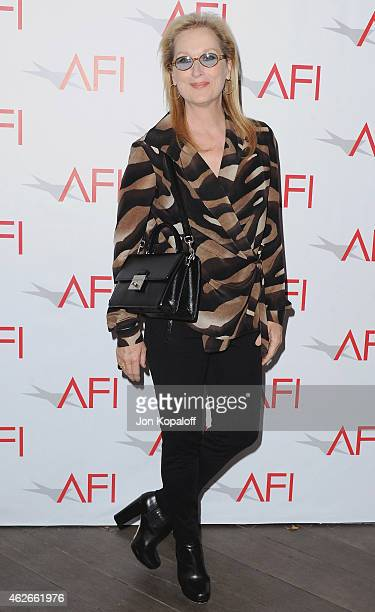 Actress Meryl Streep arrives at the 15th Annual AFI Awards at Four Seasons Hotel Los Angeles at Beverly Hills on January 9 2015 in Beverly Hills...