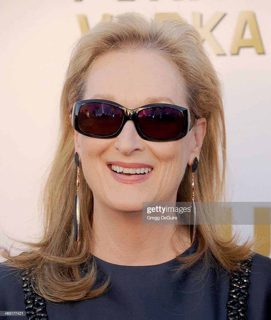 Actress <a gi-track='captionPersonalityLinkClicked' href=/galleries/search?phrase=Meryl+Streep&family=editorial&specificpeople=171097 ng-click='$event.stopPropagation()'>Meryl Streep</a> arrives at the 19th Annual Critics' Choice Movie Awards at Barker Hangar on January 16, 2014 in Santa Monica, California.
