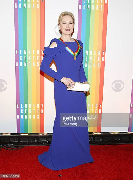 Actress Meryl Streep arrives at the 37th Annual Kennedy Center Honors at the John F Kennedy Center for the Performing Arts on December 7 2014 in...