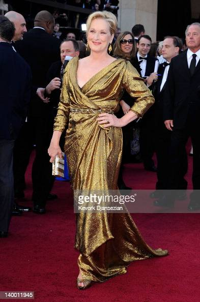 Actress Meryl Streep arrives at the 84th Annual Academy Awards held at the Hollywood Highland Center on February 26 2012 in Hollywood California