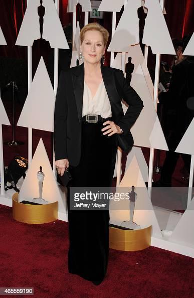 Actress Meryl Streep arrives at the 87th Annual Academy Awards at Hollywood Highland Center on February 22 2015 in Hollywood California