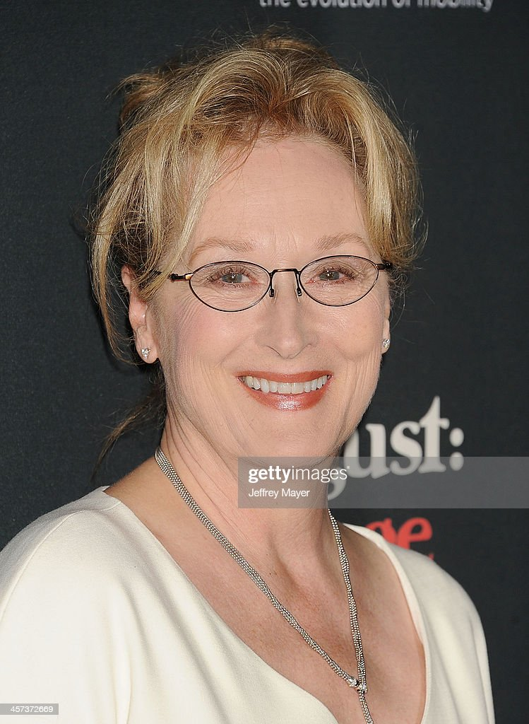 Actress <a gi-track='captionPersonalityLinkClicked' href=/galleries/search?phrase=Meryl+Streep&family=editorial&specificpeople=171097 ng-click='$event.stopPropagation()'>Meryl Streep</a> arrives at the 'August: Osage County' - Los Angeles Premiere at Regal Cinemas L.A. Live on December 16, 2013 in Los Angeles, California.