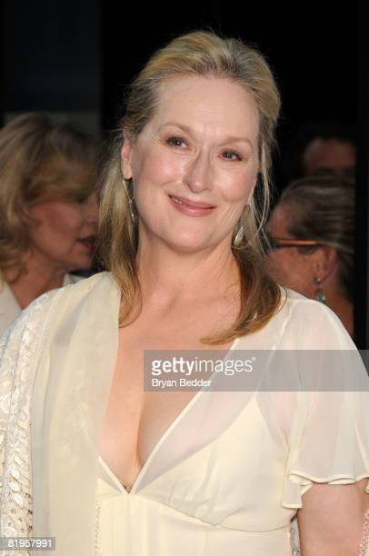 Actress Meryl Streep arrives at the premiere of 'Mamma Mia' at the Ziegfeld Theatre July 16 2008 in New York City